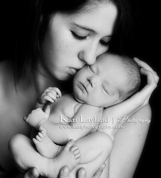 Mom and baby girl portrait mn