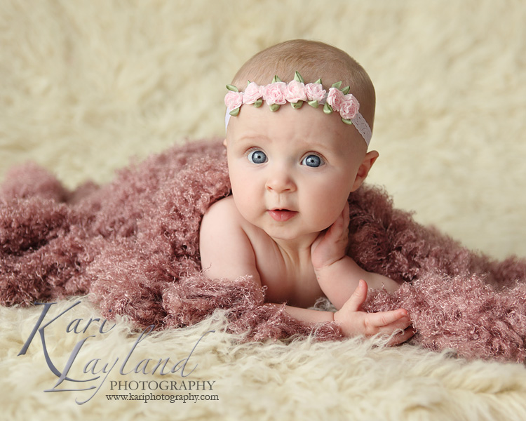 baby posing, taken by Kari Layland Photography