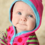 baby portrait with hood up, Kari Layland Photography