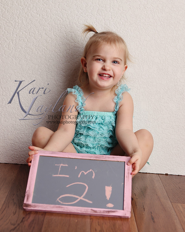 MN 2 year portraits.  Kari Layland Photography