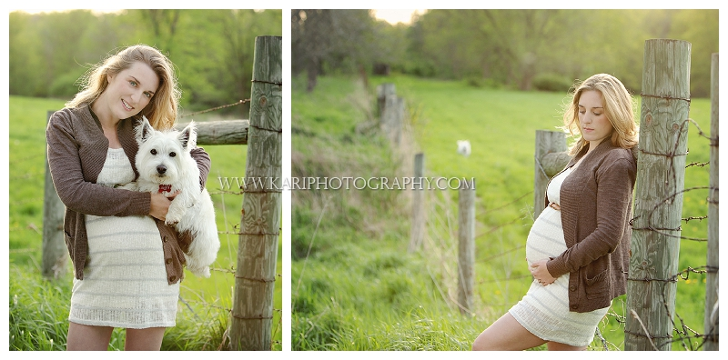 evening maternity portrait