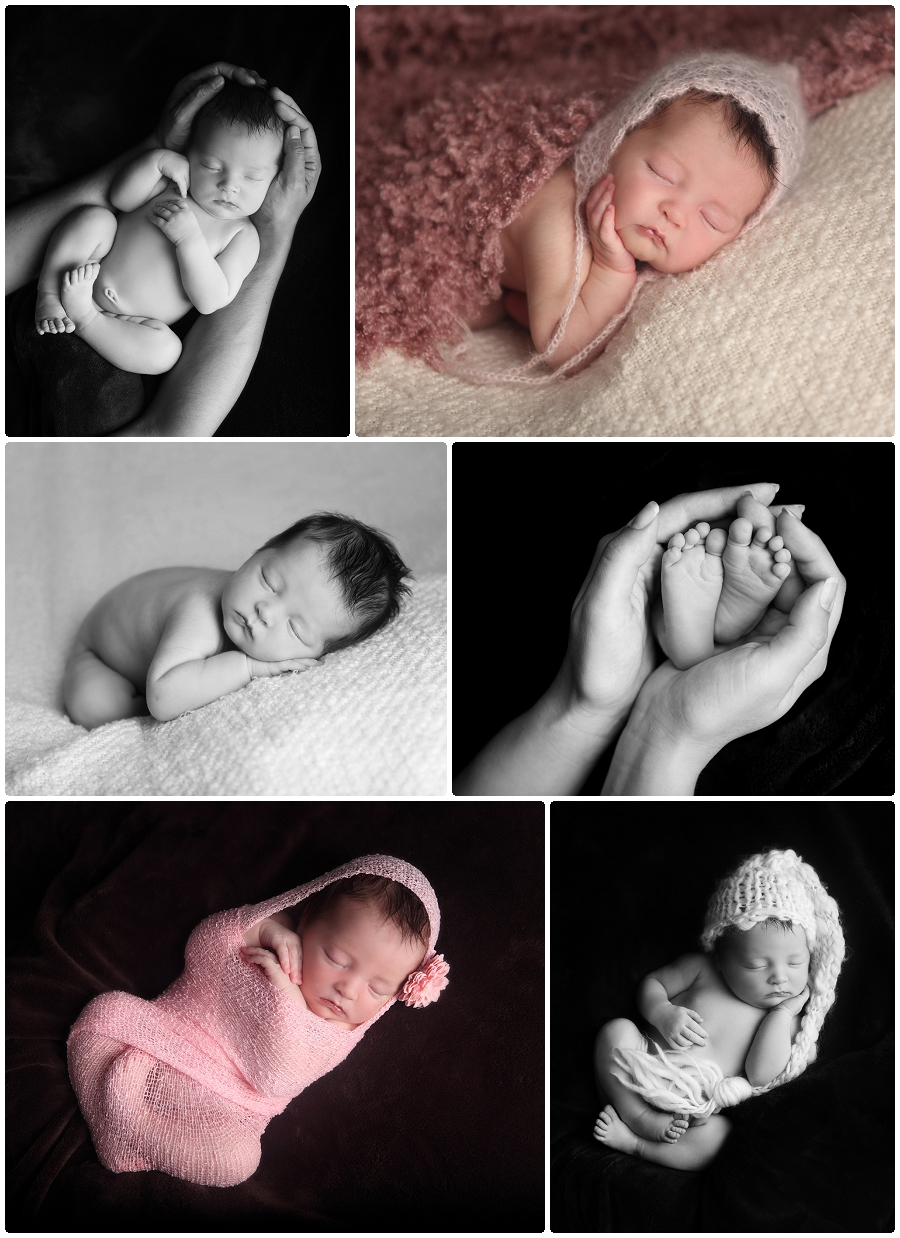 Baby posing newborn portraits Minnesota