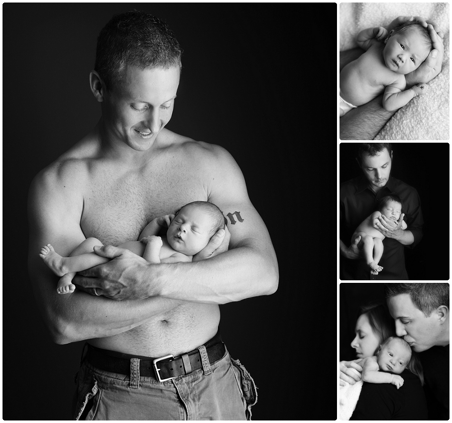 MN black and white newborn photographer